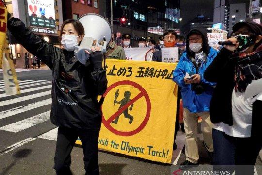 Unjuk rasa menolak Olimpiade Tokyo
