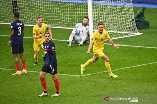 Pencetak gol Ukraina ke gawang Prancis akui dinaungi keberuntungan