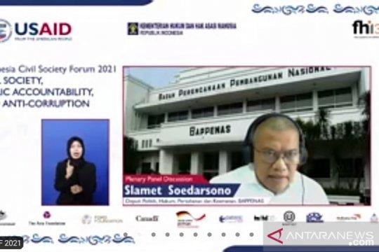 ICSF 2021, Bappenas: Peran masyarakat sipil esensial kawal pembangunan