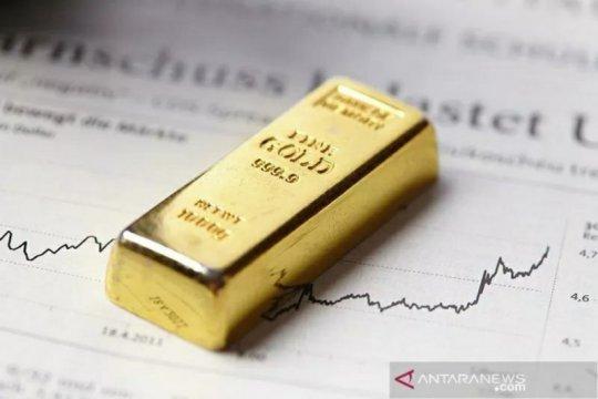 """Imbal hasil obligasi dan """"greenback"""" turun, emas melonjak 14,2 dolar"""