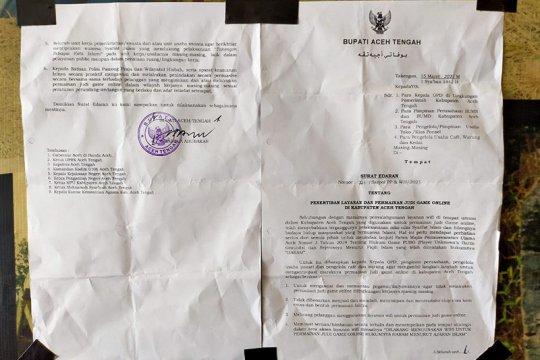 Bupati Aceh Tengah larang permainan judi daring