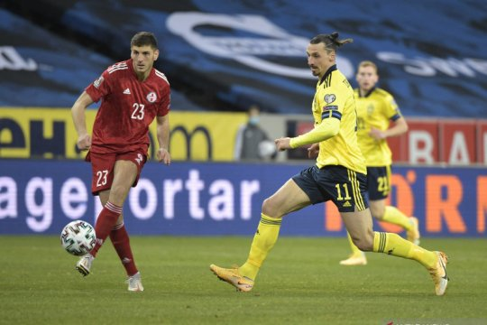 Zlatan Ibrahimovic bantu Swedia tekuk Georgia 1-0
