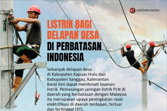 Listrik bagi delapan desa di perbatasan Indonesia