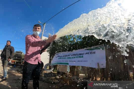 Dua sumur wakaf masyarakat Aceh di Jalur Gaza Palestina difungsikan