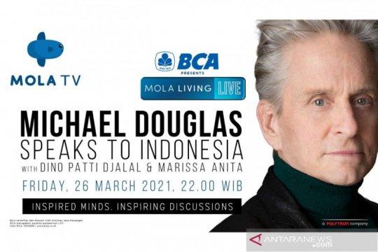 Malam ini, Michael Douglas berbagi cerita untuk penonton Indonesia