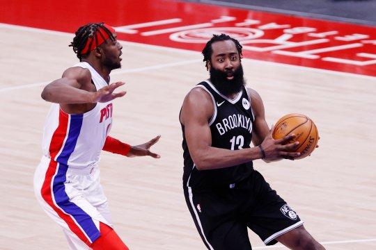 Brooklyn Nets selamat dari tekanan Pistons