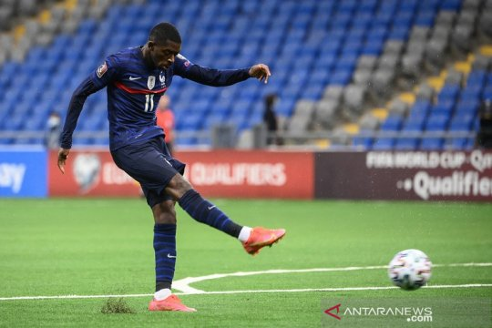 Ousmane Dembele sumbang satu gol saat Prancis atasi Kazakhstan