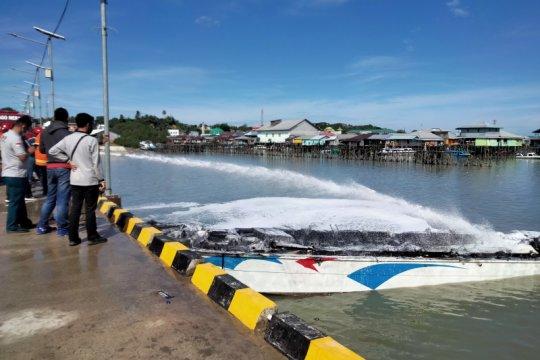 Speedboat Sebakis 3 terbakar di pelabuhan Tengkayu I Tarakan
