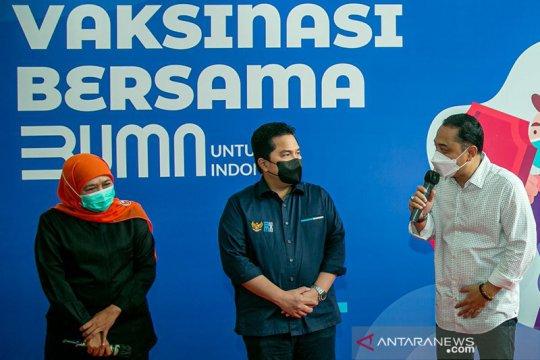 Wali Kota Surabaya komitmen bantu Pemprov Jatim vaksinasi tertinggi