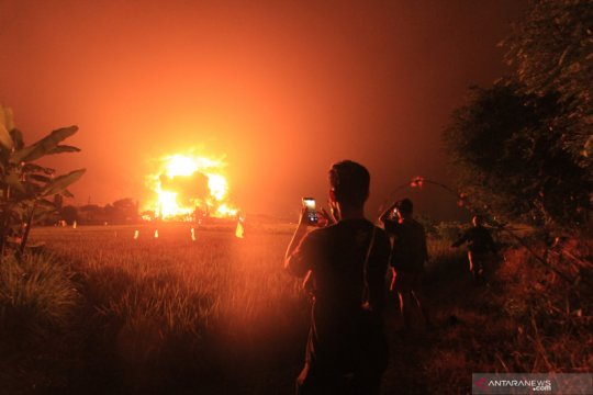 Polisi selidiki penyebab kebakaran kilang minyak Balongan Indramayu