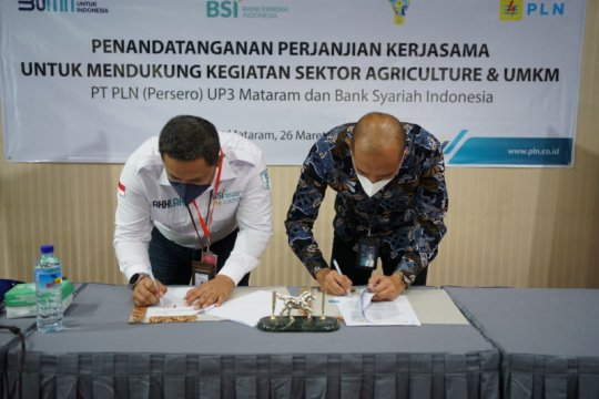 PLN gandeng BSI bantu pengembangan sektor UMKM di Lombok