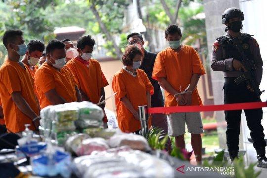 Bareskrim dan Bea Cukai ungkap kasus narkoba lintas negara