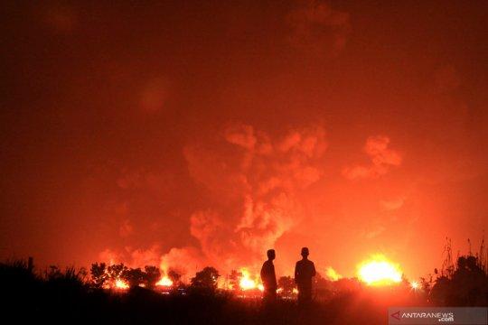 Pertamina: dua titik api di Kilang Balongan telah padam