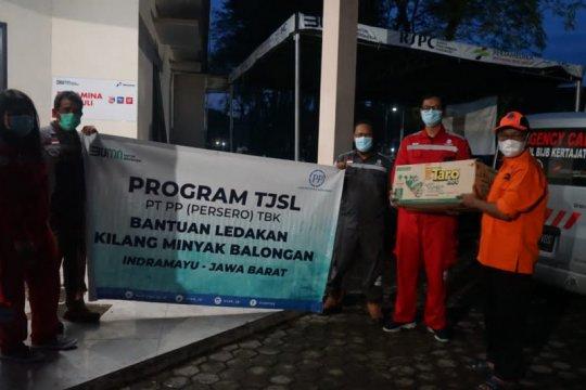 PP berikan bantuan sosial korban ledakan Kilang Balongan