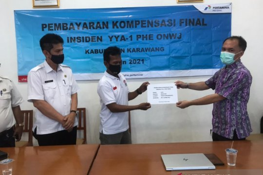 Pertamina bayar kompensasi tumpahan minyak di Karawang Rp72,16 miliar