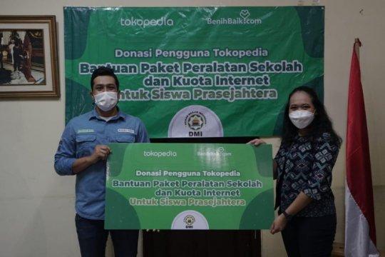 Pengguna Tokopedia donasi Rp700 juta untuk siswa prasejahtera