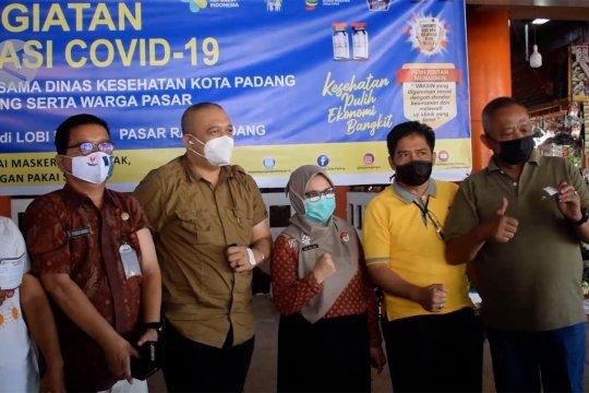 Dinkes Kota Padang sasar 2.500 pedagang untuk vaksinasi COVID-19