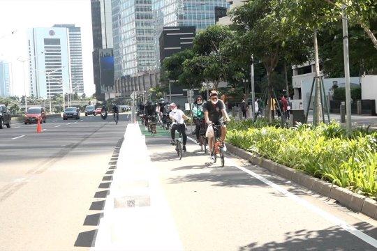 Anies sebut perilaku pengguna jalan tentukan kebijakan jalur sepeda permanen