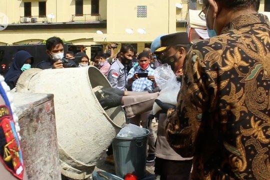 Polda Aceh musnahkan 404 kilogram sabu