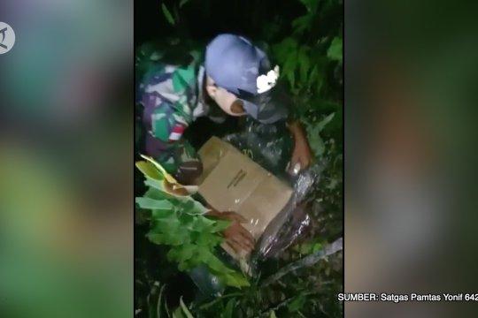 Satgas Pamtas gagalkan penyelundupan 10,7 kg sabu asal Malaysia