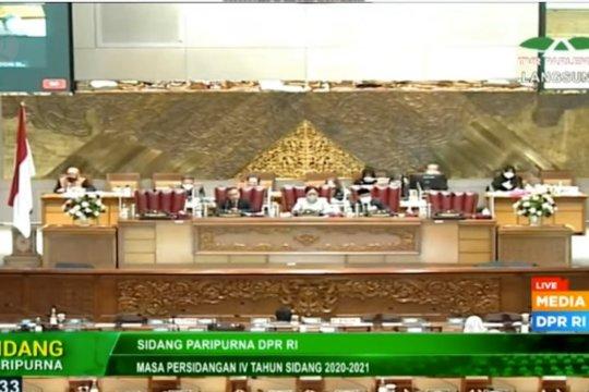 DPR setujui 33 RUU Prolegnas Prioritas 2021