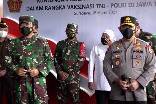 Kapolri & Panglima TNI apresiasi Jatim tangani COVID-19