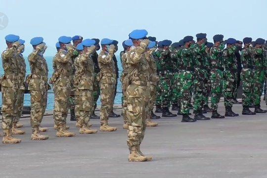 Satgas Maritim TNI Konga XXVIII-M bertolak ke Lebanon