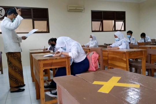SMP di Solo laksanakan simulasi pembelajaran tatap muka