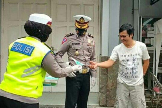 Ditlantas Polda Lampung sosialisasi larangan mudik Lebaran 2021