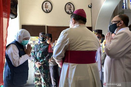 Gubernur Jawa Timur cek persiapan pelaksanaan ibadah di Gereja Ijen