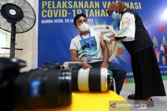 43 ribu petugas pelayanan publik Aceh sudah divaksinasi