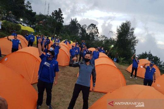 AHY konsolidasi dengan Demokrat Jateng di lereng Gunung Ungaran