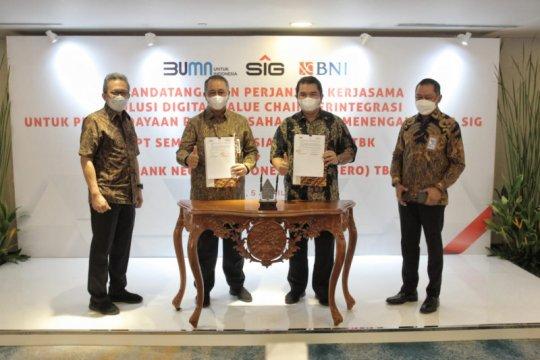 """BNI-Semen Indonesia terapkan solusi """"digital value chain"""" terintegrasi"""