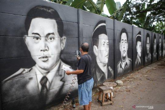Mural bertema pahlawan nasional