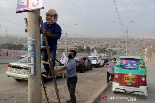 Sehari jelang pemilu, Peru alami rekor harian kematian COVID-19