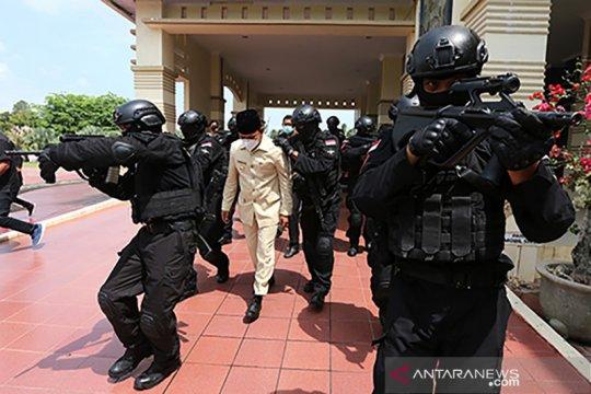 Simulasi pembebasan Bupati Aceh Besar