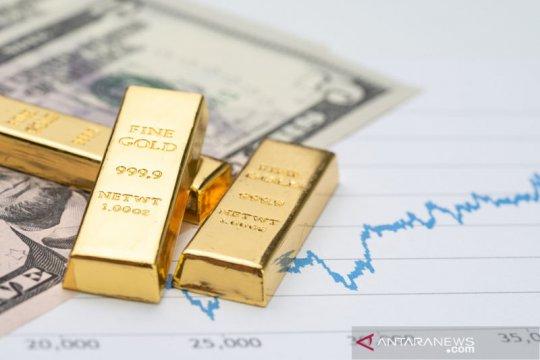 """Emas naik tipis 0,4 dolar ditopang pelemahan """"greenback"""""""