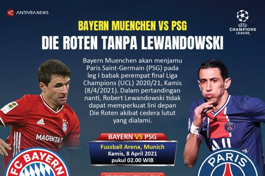 Bayern Muenchen vs PSG: Die Roten tanpa Lewandowski