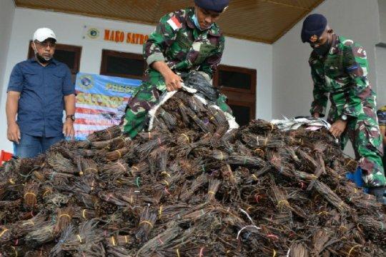 Patroli laut gagalkan penyelundupan 984,6 kg vanili ilegal asal PNG