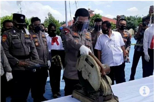 Kapolda Lampung musnahkan 183 pucuk senjata api rakitan