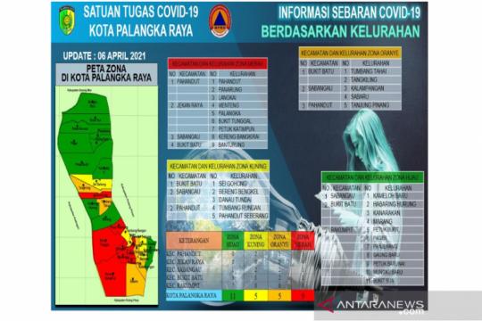 11 kelurahan di Palangka Raya zona hijau penyebaran COVID-19