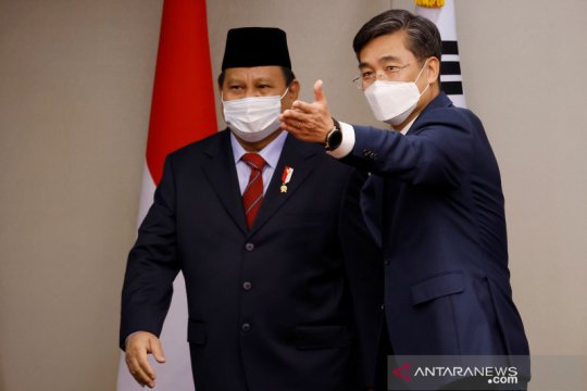 Menhan Prabowo Subianto bertemu Menhan Korsel