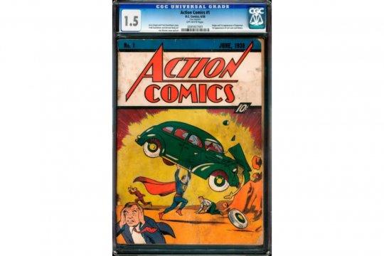 Komik Superman cetak rekor pelelangan tertinggi 3,25 juta Dolar AS