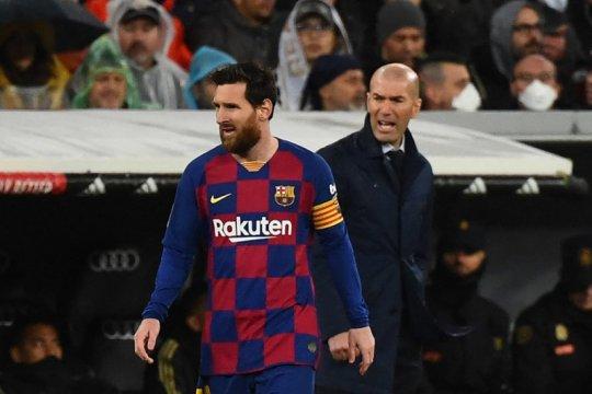 Zidane ingin selalu ada Messi dalam El Clasico