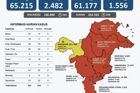 Kasus sembuh COVID-19 di Kaltim bertambah 238 orang