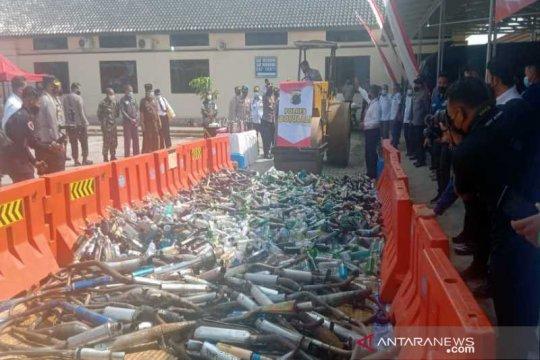 Polres Boyolali musnahkan ribuan botol miras jelang Ramadhan