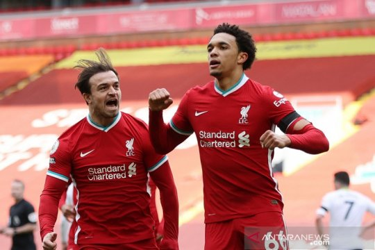 Liverpool akhirnya menang lagi di Anfield, tundukkan Villa 2-1