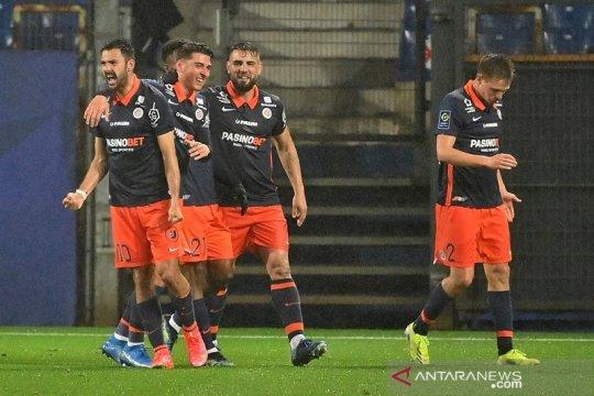 Gol larut Montpellier buyarkan kemenangan 10 pemain Marseille
