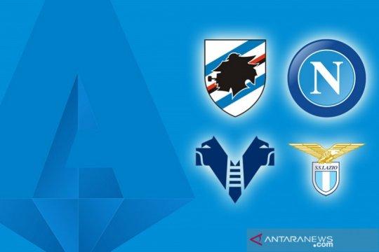 Napoli dan Lazio kompak petik kemenangan di kandang lawan