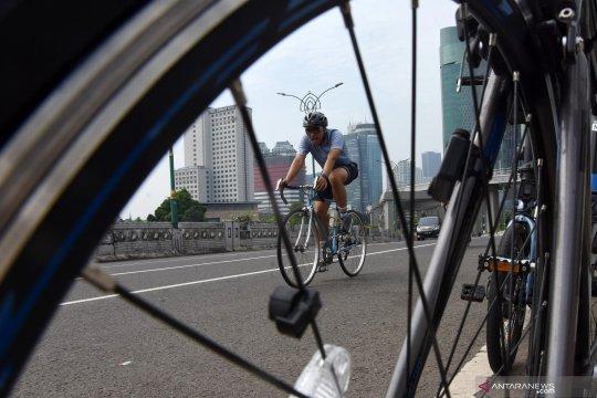 Fasilitas jalur sepeda Sudirman-Thamrin akan ditambah termasuk rambu